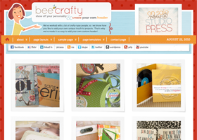Bee Crafty WordPress design