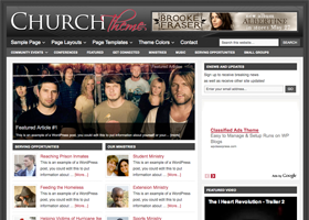 Church WordPress design