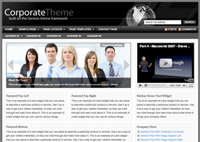 Corporate WordPress designe