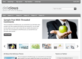 Delicious WordPress design