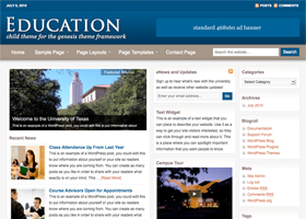 Education WordPress design