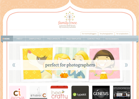 Family Tree WordPress design