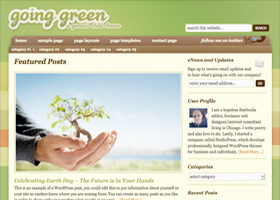 Going Green WordPress design