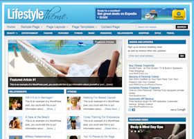 Lifestyle WordPress design