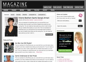 Magazine WordPress design