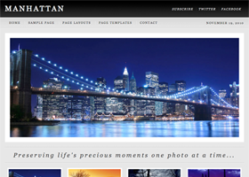 Manhattan WordPress design