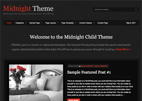 Midnight WordPress design