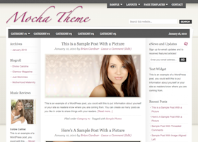 Mocha WordPress design