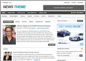 News WordPress design