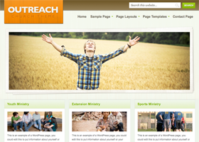 Outreach WordPress design