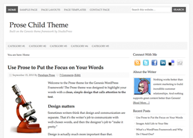 Prose WordPress design