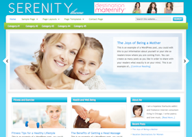 Serenity WordPress design