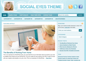 Social Eyes WordPress design